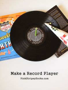 how to build a DIY record player from household materials #bookingusa