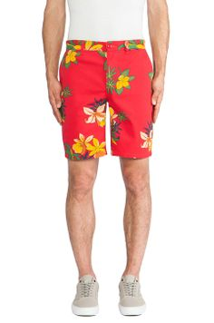 Obey Working Man II Short in Hawaiian Red
