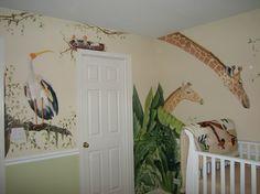 jungle animals for baby nursery | Muralist Debbie Cerone | Jungle Animals for Baby's Room