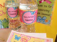 Butterfly Garden Party Water Bottle Wrap   by 3PeasPrints on Etsy, $6.00