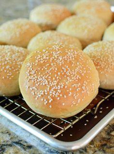 Soft Sesame Seed Hamburger Buns - The Well Floured Kitchen