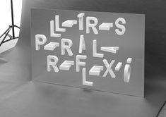 Reflexio Typography by Ramon Carrete-1 – Fubiz™
