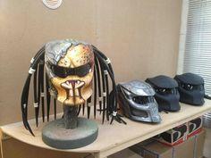 Amazing Predator Bike Helmets by Graf X Custom Paintworks