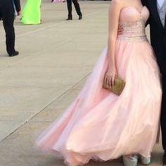 Prom Dress Pink strapless prom dress Jovani Dresses