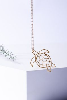 valentines 10% off MIZYAN's geometric turtle necklace by HananMass