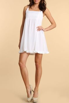 LSC Corp Silk Spaghetti Strap Dress in White - Beyond the Rack  #contest #repintowin