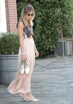 Zara Marble Top, River Island Maxi Skirt