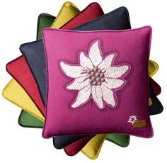"""Alpenstern"" Cushion by Fine Textilverlag · www.labella-amara.com Edelweiss, Pillow Fight, Color Splash, Coin Purse, Cushions, Throw Pillows, Colour, Google, Accessories"