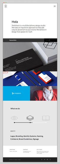 Creative Web, Design, Shellshock, Website, and Layout image ideas & inspiration on Designspiration Minimal Website Design, Website Design Layout, Web Layout, Layout Design, Website Designs, Web Design Mobile, Web Ui Design, Graphic Design, Webpage Layout