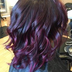 The Best Color for Girls with Black Hair: Blackberry Shades! The Best Color for Girls with Black Hair: Blackberry Shades! – The HairCut Web - Station Of Colored Hairs Plum Hair, Violet Hair, Purple Hair, Ombre Hair, Plum Black Hair, Texas Hair, Cool Hair Color, Up Girl, Fall Hair