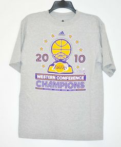 cbdeaa972d57df Los Angeles LAKERS by adidas T-Shirt Western Conference Champions Men s  size M  adidas
