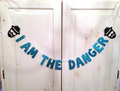 Breaking Bad Banner -- Heisenberg / I am The Danger Glitter Banner / Photo Prop Breaking Bad Birthday, Breaking Bad Party, Breaking Bad Tattoo, Walter White, Crystal Ship, 22nd Birthday, Heisenberg, Custom Checks, Custom Banners