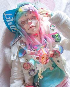 Ooak Dolls, Art Dolls, Tumblr Art, Kawaii Doll, Doll Painting, Anime Dolls, Doll Costume, Doll Repaint, Doll Maker