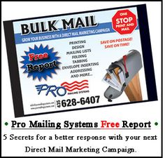 Get your FREE Direct Mailing Marketing Report to help you get better responses with your next campaign.