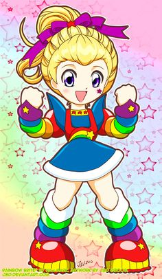 It's like crossing Rainbow Brite with Sailor Moon!  TOO CUTE!