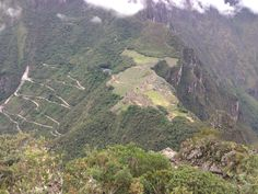 Machu Picchu seen from top of WaynaPicchu mountain