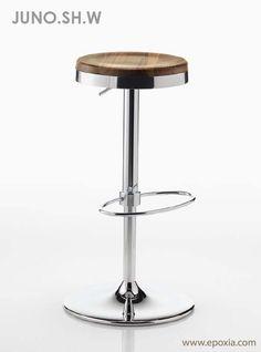 Tabouret de bar Juno bois hêtre naturel 65 cm