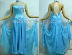 Ballroom waltz dress - I love the design and detail, but don't like backless