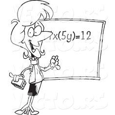 Female Math Teacher During Class
