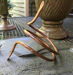 Double wrap snakehead  bracelet by HammerandWire on Etsy