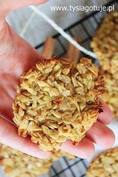 Dietetyczne ciastka owsiane z jabłkiem i cynamonem | Tysia Gotuje