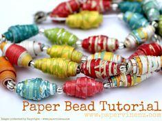 Paper Bead Tutorial - Cute and fun :)
