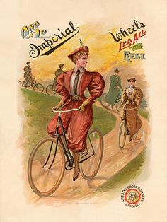 Imperial Wheels Vintage Bicycle Poster by Ames and Frost Co.