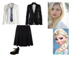 """""""Elsa - Ravenclaw"""" by ilovecats-886 ❤ liked on Polyvore featuring NIC+ZOE, Rachel Zoe, H&M and Bonnibel"""