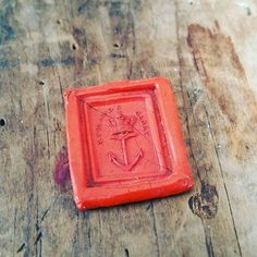 England's Glory - Antique wax seal. Avail in the Plum & Posey Etsy shop