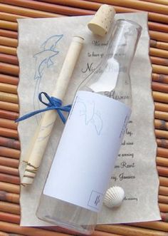 message in bottle #invitation - too cute - wonder how much postage would be to send these