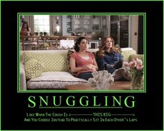 Jane and Maura are snuggling