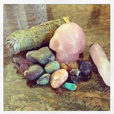 cleansing negative energy with sage and crystals