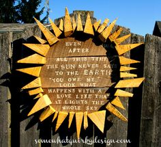 Make your own reclaimed wood sunflower! This is sooooo cool! By Somewhat Quirky: Sun Garden Art - Again