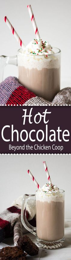 Hot Chocolate # Food and Drink vegetarian hot chocolate Homemade Hot Chocolate Chocolate Day, Homemade Hot Chocolate, Hot Chocolate Mix, Hot Chocolate Recipes, Vegetarian Chocolate, Chocolate Desserts, Yummy Drinks, Delicious Desserts, Dessert Recipes