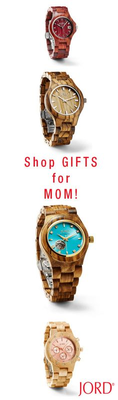Gift Mom with a timepiece that will mark the moment in a memorable way! JORD creates wooden timepieces that will be treasured for years to come. Shop our 5 women's series and find her perfect present today at woodwatches.com Extended return period for gifts. One year warranty. Ships worldwide!