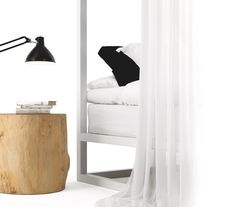 Casetta in Canada by Mogg / Finally a place where to rest, dream and feel like a child. Finally a dream house! Look at the four-poster bed Casetta in Canada / Design by Nathan Yong. (In the picture also the lamp Piantama Design by Marcantonio Raimondi Malerba)  http://www.mogg.it/Prodotti/All-the-others/Casetta-in-Canada/ http://www.mogg.it/Prodotti/Table/PIANTAMA/  #mogg #moggdesign #Casetta #CasettainCanada #NathanYong #fourposterbed #Piantama #MarcantonioRaimindiMalerba #Marcantorama…