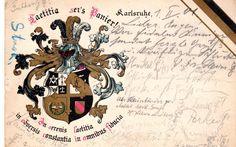 Studentika Couleurkarte 1901 KSTV Laetitia Karlsruhe KV Studentica | eBay