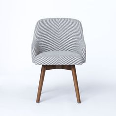 love this saddle office chair from @west elm // grey/ivory