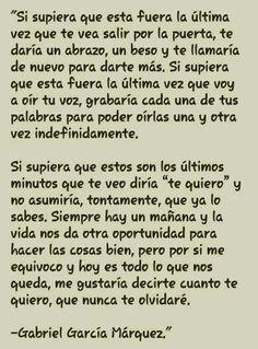 Perfecto... Gabriel García Márquez