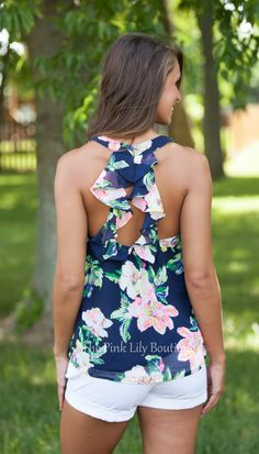 The Pink Lily Boutique - Until The End Of Time Floral Tank, $32.00 (http://thepinklilyboutique.com/until-the-end-of-time-floral-tank/)