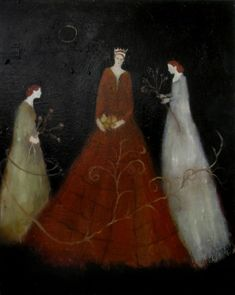 New on ArtisticMoods.com: the tall & snow white ladies by Georgia-based artist Jeanie Tomanek.