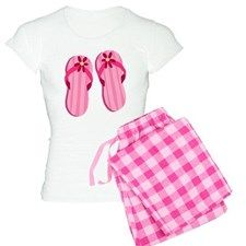 Pink Flip Flops Women's Light Pajamas for