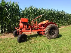 1954 Power King Tiller Steer Tractor