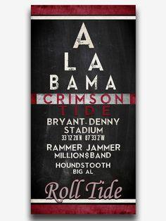Alabama Wall Decor small university of alabama football man cave wood sign 21x14