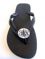 So getting these this summer..monogrammed Havaianas..LOVE--Also great gift.. swagstamp.com