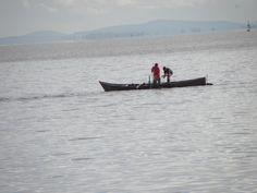 Pescaria nas águas do Rio Guaíba