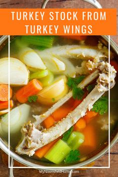 Learn to make Turkey Stock for Cooking from Turkey wings. This recipe is a must for holiday cooking! Turkey Broth, Turkey Stock, Turkey Wings, Best Turkey, Family Meals, Family Recipes, Homemade Soup, Weight Watchers Meals, Us Foods