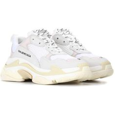 Balenciaga Triple S sneakers ($775) ❤ liked on Polyvore featuring shoes, sneakers, balenciaga trainers, balenciaga, balenciaga shoes and balenciaga sneakers
