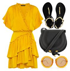 Four by monmondefou on Polyvore featuring Marissa Webb, Ancient Greek Sandals, Quay, black and orange
