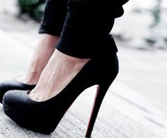 Every girl needs a simple pair of black pumps. Their like a little black dress!